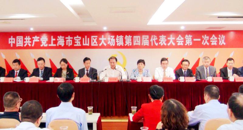 区委书记汪泓在参加中共上海市宝山区杨行镇第四届