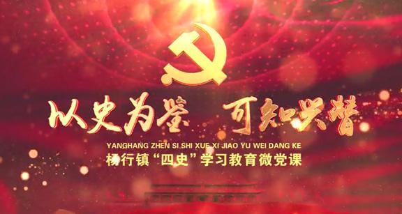 """以史为鉴 可知兴替—杨行镇""""天博官网""""微党课"""